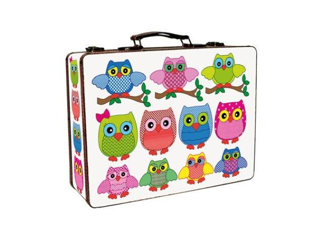 Set of 2 Briefcases - Owls & Twigs