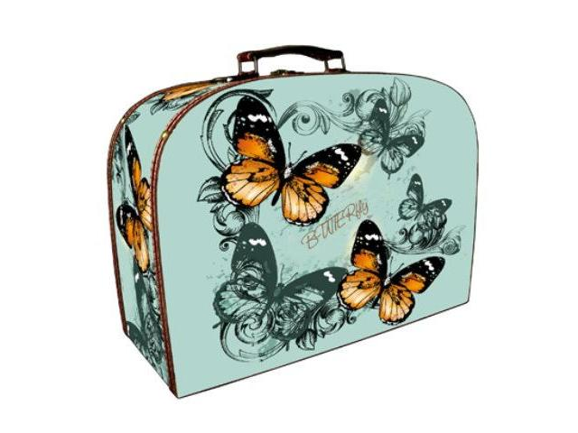 Set of 2 Briefcases - Butterflies